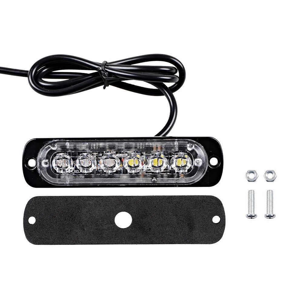 Универсальный мигающий желтый свет для световых сигналов автотранспорта 12-24V 6 LED