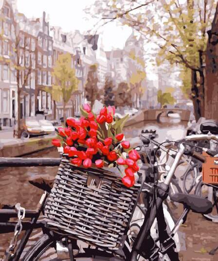 Картина по номерам Доставка тюльпанов в Амстердаме 29265