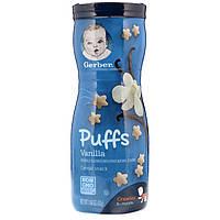 Gerber, Puffs Cereal Snack, Crawler, 8+ Months, Vanilla, 1.48 oz 42 g