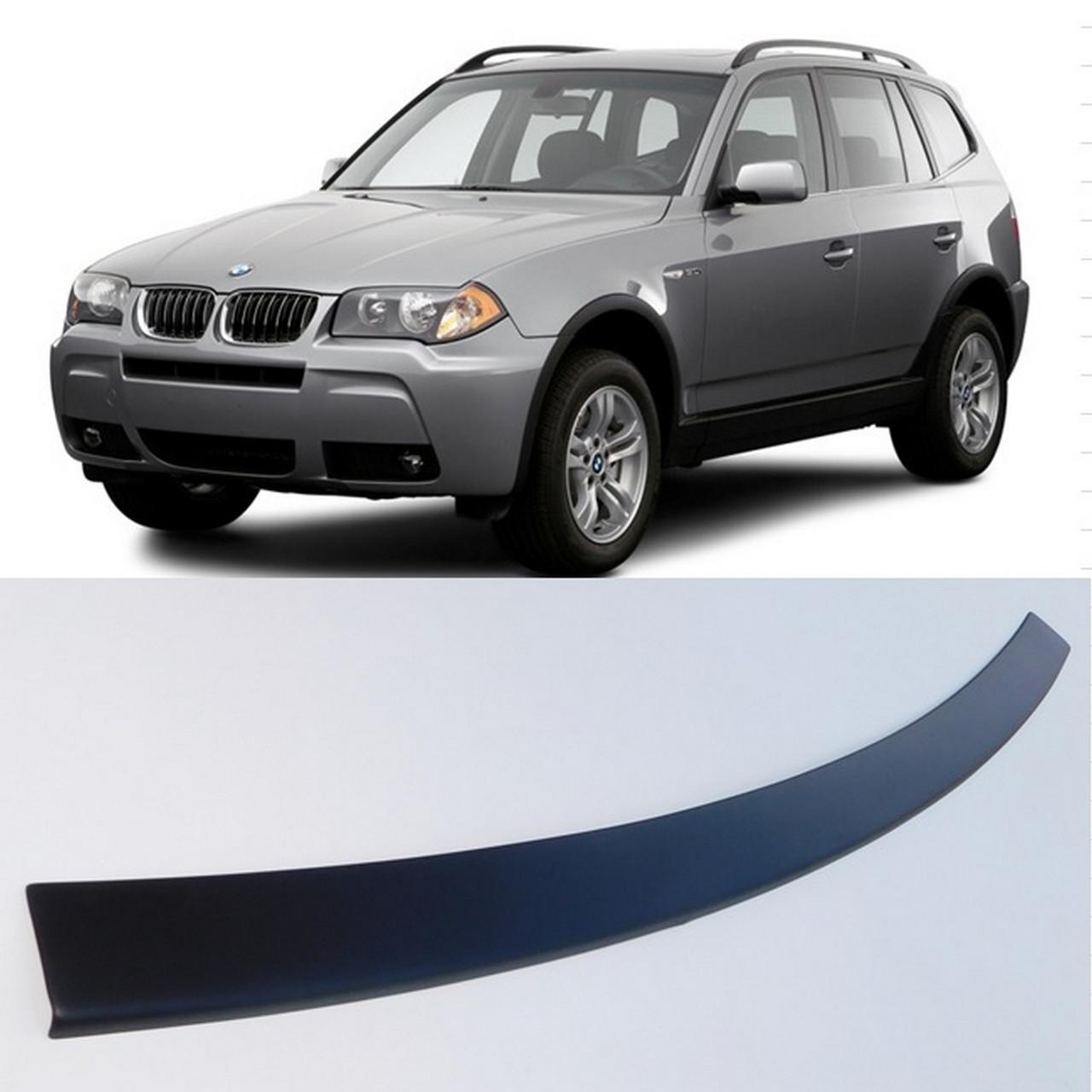 Пластиковая защитная накладка на задний бампер для BMW X3 E83 2006-2010