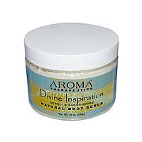 Abra Therapeutics, Натуральный скраб для тела «Божественное Вдохновение», неролиевое масло и сандал, 283 г