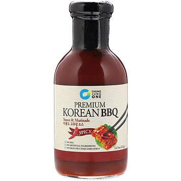 Chung Jung One, Высококлассный корейский соус для барбекю и маринад, острый, 14,5 унц. (411 г)