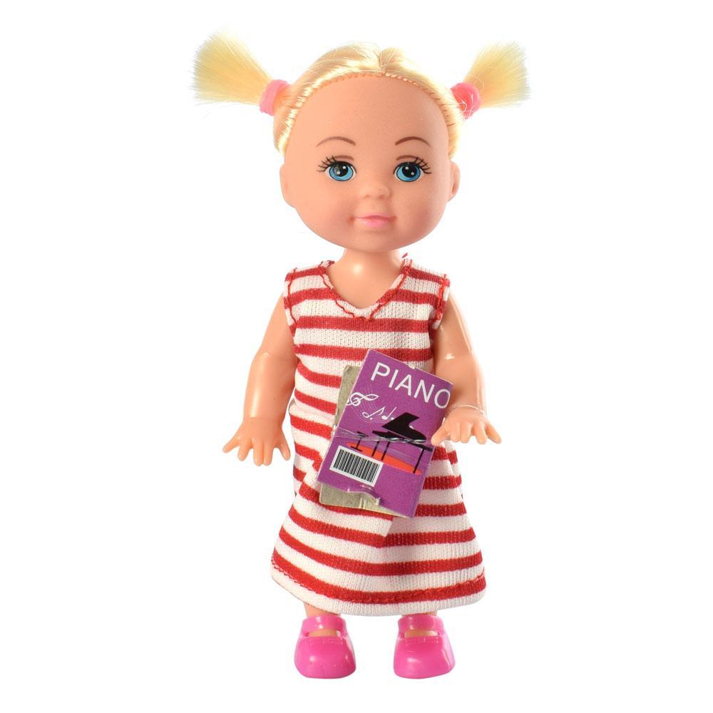 Маленька лялька Defa Lucy 8414 з музичним піаніно