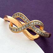 Красиве жіноче кільце, медичне золото Xuping. Розмір 17. Позолочені кільця ХР