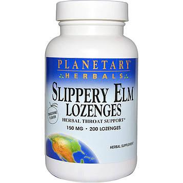 Planetary Herbals, Пастилки с вязом ржавым, мандариновый аромат, 150 мг, 200 пастилок