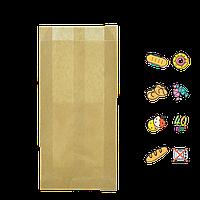 Бумажный пакет без ручек крафтовый 220х100х50мм (ВхШхГ) 40г/м² 100шт (503)