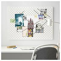 IKEA SKADIS Перфорированная доска, белая, 76x56 см (492.173.81)