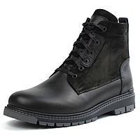 Ботинки на овчине кожа черные широкая стопа мужская зимняя обувь большой размер Rosso Avangard Whisper 2 Mode