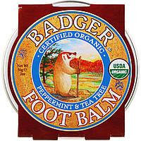 Badger Company, Бальзам для ног, с перечной мятой и чайным деревом, 2 унции 56 г, официальный сайт