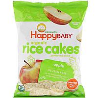 Happy Family Organics, Organic Rice Cakes, Puffed Rice Snack, Apple, 1.4 oz 40 g, официальный сайт