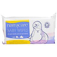Natracare, Детские салфетки с органической ромашкой, абрикосом и маслом сладкого миндаля, 50 салфеток,