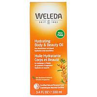 Weleda, Увлажняющее масло для тела и красоты, Экстракты облепихи, 3,4 ж. унц.(100 мл)