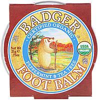 Badger Company, Бальзам для ног с экстрактами перечной мяты и чайного дерева, .75 унций 21 г, официальный сайт