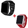 Комплект смарт-часов Smart Watch A1 Black/Red 2 шт (nr1-115)