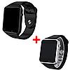 Комплект смарт-часов Smart Watch A1 Black/Silver 2 шт (nr1-114)