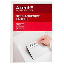 """Этикетки самоклеящиеся 10 штук на листе""""Axent"""""""