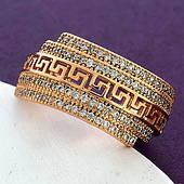 Женское кольцо, медицинское золото Xuping. Размер 20 в наличии