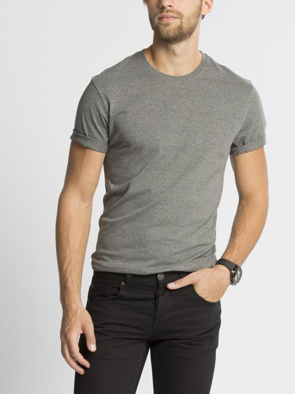 Серая мужская футболка LC Waikiki / ЛС Вайкики с круглым вырезом