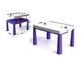 Пластиковый стол с насадкой для аэрохоккея фиолетовый 04580/4 Долони