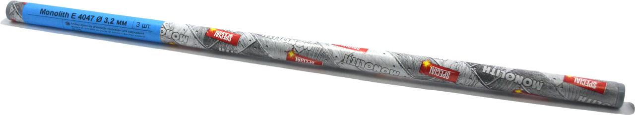 Электроды для сварки алюминия и алюминиевых сплавов E 4047 Monolith Ø 4,0 мм (упаковка ТУБУС - 3 шт)