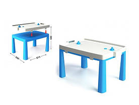 Пластиковый стол с насадкой для аэрохоккея голубой 04580/1 Долони