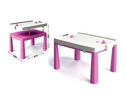 Пластиковый стол с насадкой для аэрохоккея розовый 04580/4 Долони