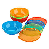 NUK, First Essentials Bunch-a-Bowls, 4+ Months, 4 Bowls and Lids, официальный сайт, NUK-78185