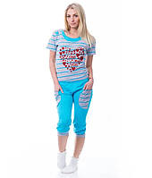Пижама женская с бриджами Турция, фото 1