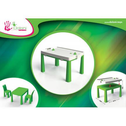 Стол детский+комплект для игры (Зелёный) 04580/2 ТМ Долони, фото 2