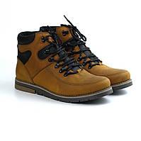 Рыжие зимние ботинки мужские кожа на овчине обувь больших размеров Rosso Avangard Red Major Payne Street BS