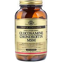 Solgar, Глюкозамин, хондроитин и метилсульфонилметан, тройная сила, 120 таблеток
