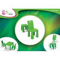 Стол детский+комплект для игры (Зелёный) 04580/2 ТМ Долони, фото 3