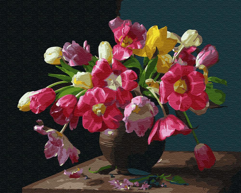 Картина по номерам Красочные цветы 25929