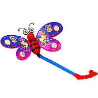 """Каталочка 3803-11 (120шт/2) бабочка """"Микки Маус"""", на палочке, в пакете 35*20см *"""