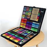 Большой художественный набор для рисования в чемоданчике Colorful Italy 258 предметов, фото 4