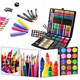 Большой художественный набор для рисования в чемоданчике Colorful Italy 258 предметов, фото 5