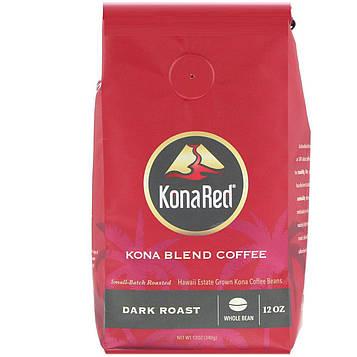 KonaRed , Кофе Кона, цельнозерновой, темной обжарки, 12 унц. (340 г)