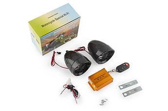 Аудиосистема для мототехники, мотоакустика (3.5, черная, подсветка, сигн., МР3/FM/SD/USB, ПДУ) BEST CHOICE