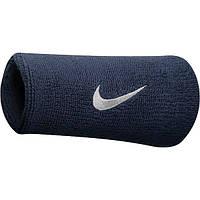 Напульсник Nike Swoosh Double-Wide Wristbands обсидиан