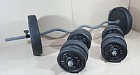 Штанга W-подібним грифом + гантелі   78 кг, фото 4