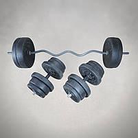 Штанга W-подібним грифом + гантелі | 108 кг, фото 3