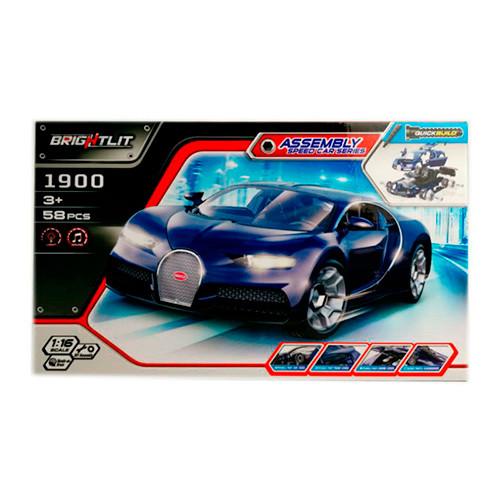 Машина-конструктор 1900 1:16, 58 дет, звук, свет, на бат, в кор