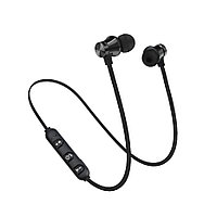 Наушники Bluetooth Black Sport на магните Черный