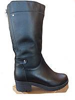 Сапоги женские зима большого размера на очень полную ногу из натуральной кожи от производителя модель АР469-6