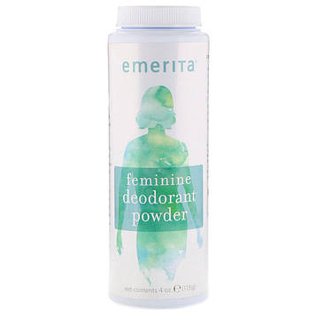 Emerita, Женский порошковый дезодорант, 4 унц. (115 г)