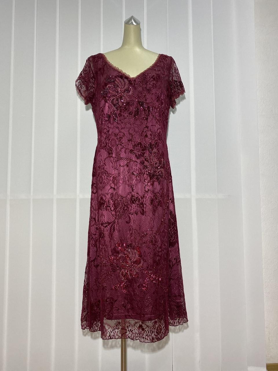 Платье Morys Tune кружево цвет бордо нарядное РАЗМЕР+