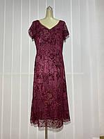 Платье Morys Tune кружево цвет бордо нарядное РАЗМЕР+, фото 1