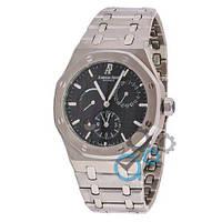 Мужские наручные часы  Audemars Piguet Royal Oak Dual Time Silver-Black (копия ААА класса)