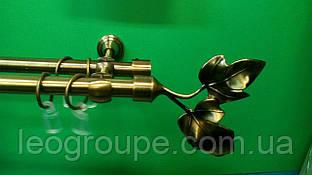 Карниз кованый двойной 16+16 антик Галажка -1,6м