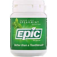 Epic Dental, Жевательная резинка с ксилитом, без сахара, мята, 50 шт., официальный сайт